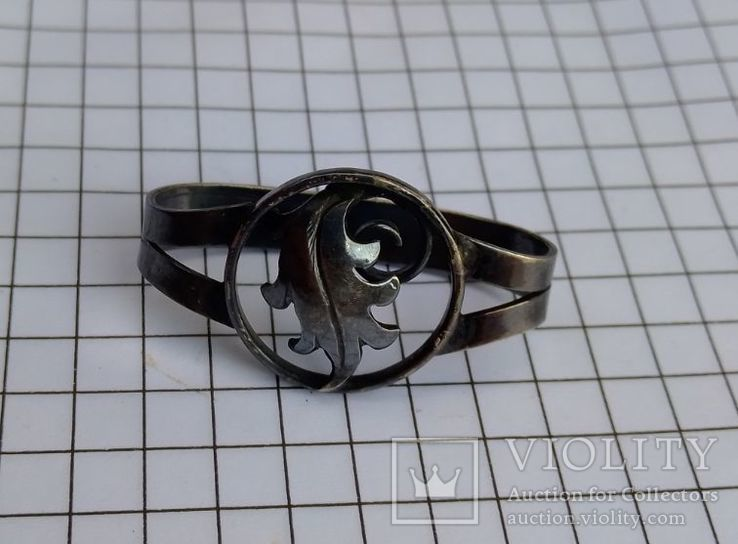 Зажим для галстука, платка, серебро 800, фото №10