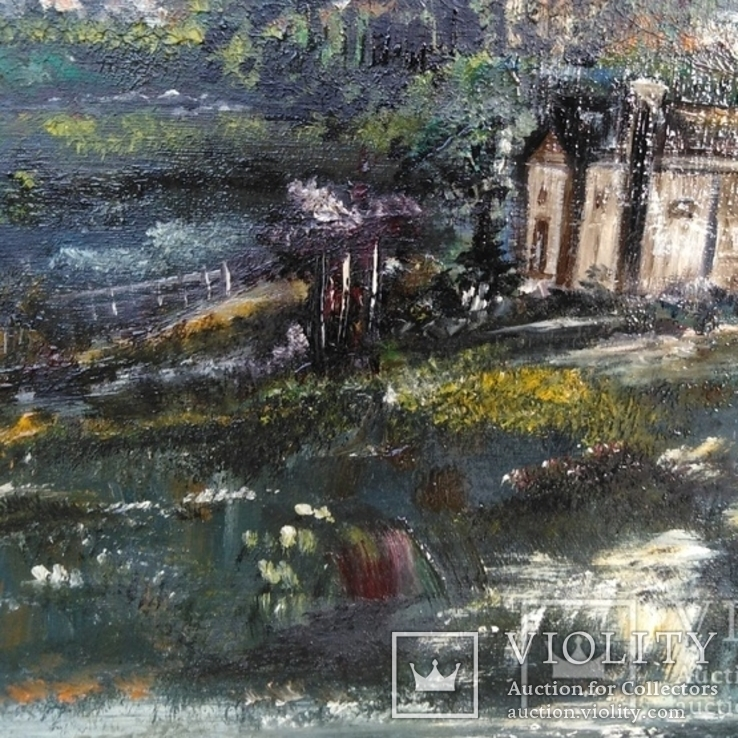 """Пейзаж """"Галльские сумерки""""51.5/76 см. м/к. 1970 год.С.А. Turchyn (England), фото №4"""
