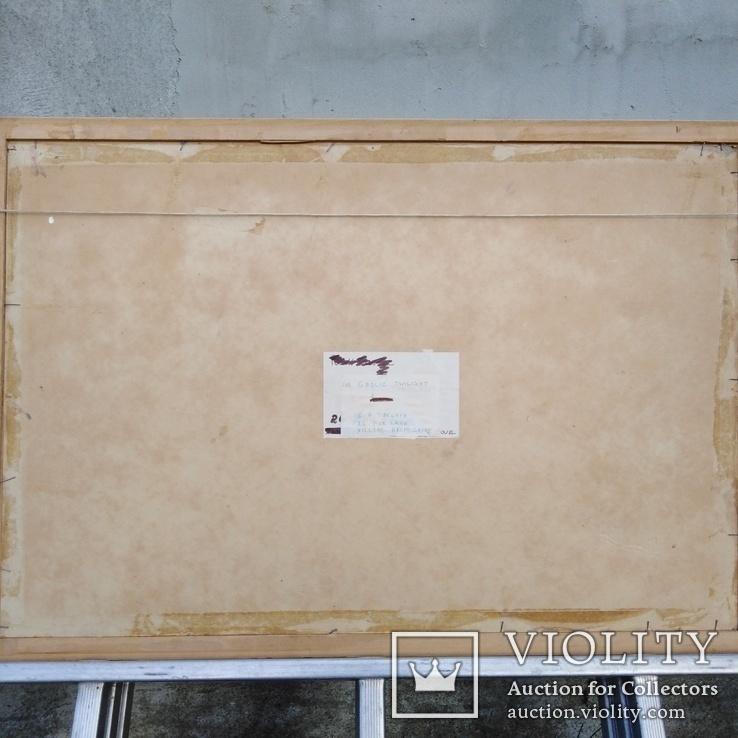 """Пейзаж """"Галльские сумерки""""51.5/76 см. м/к. 1970 год.С.А. Turchyn (England), фото №6"""