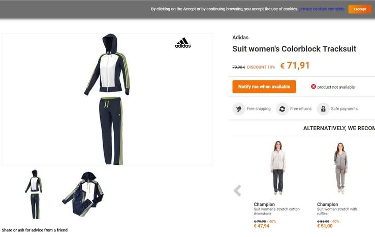 Спортивный костюм Аdidas suit women's colorblock tracksuit Оригинал, фото №13