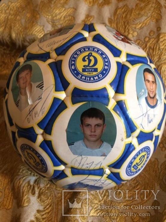 Мяч с автографами сборной Динамо-Киев, начало 2000-х, фото №4