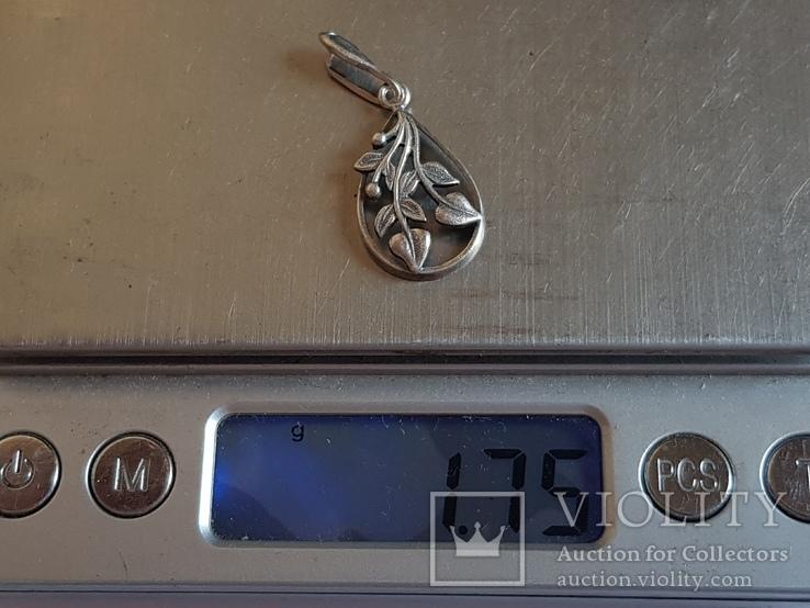 Советский кулон. Серебро 925 проба. Вес 1.75 г., фото №10