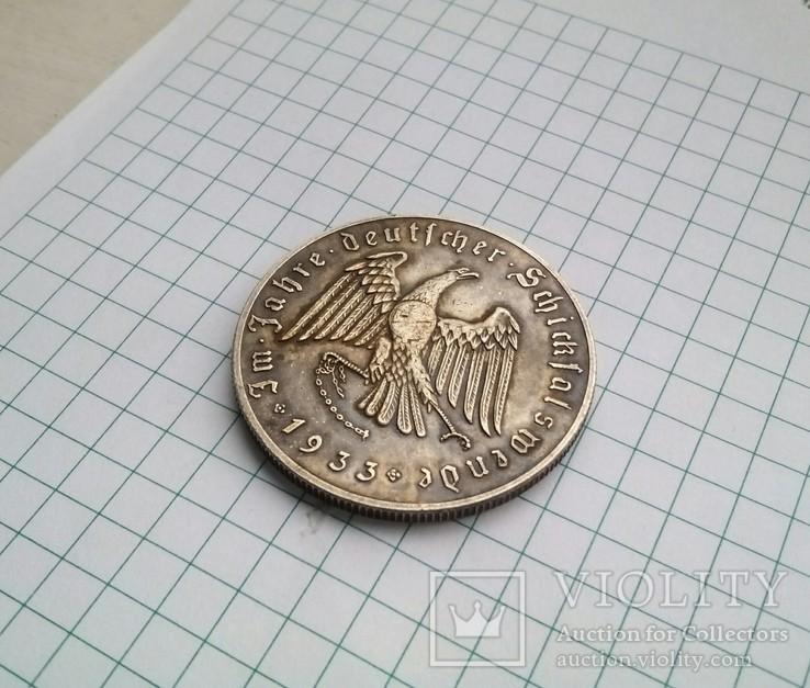 Медаль периода 3 Рейха.Медный сплав,штамп.Копия., фото №6