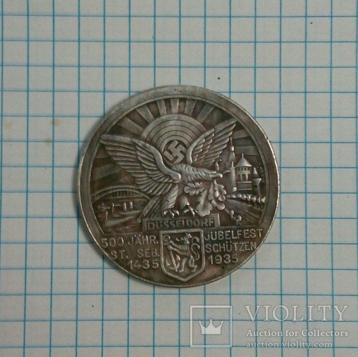 Копия медали периода 3 Рейха.штамп,медный сплав., фото №2