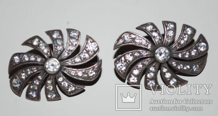 Гарнитур серьги перстень(на ремонт), серебро 925 пр. Украина, фианиты - 18 гр., фото №3