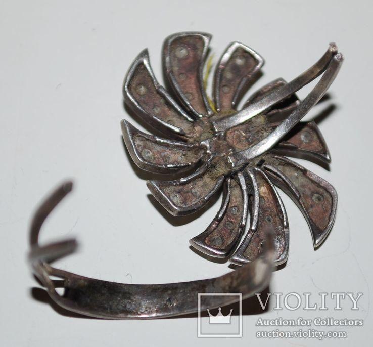 Гарнитур серьги перстень(на ремонт), серебро 925 пр. Украина, фианиты - 18 гр., фото №8