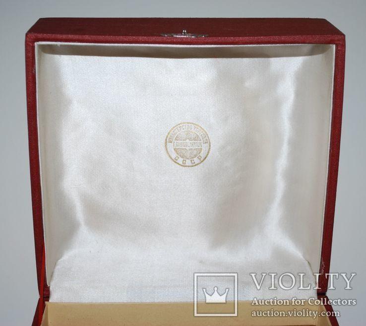 Подарочная коробка для подстаканника из серебра, ГлавЮвелирТорг СССР., фото №3