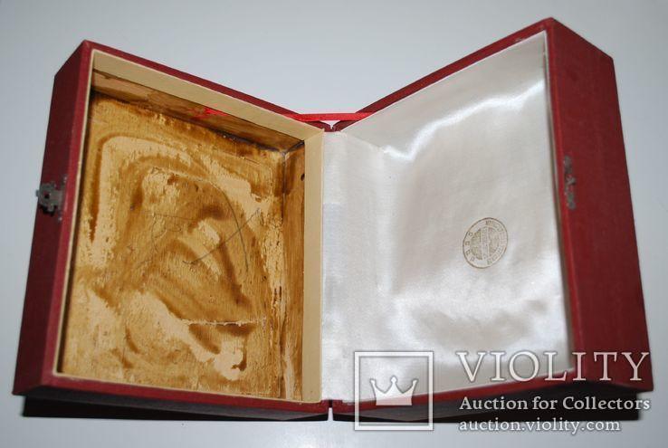 Подарочная коробка для подстаканника из серебра, ГлавЮвелирТорг СССР., фото №4