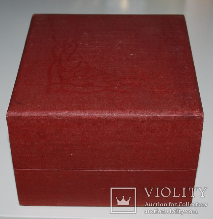 Подарочная коробка для подстаканника из серебра, ГлавЮвелирТорг СССР., фото №7