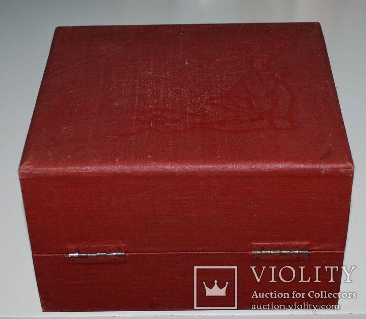 Подарочная коробка для подстаканника из серебра, ГлавЮвелирТорг СССР., фото №8