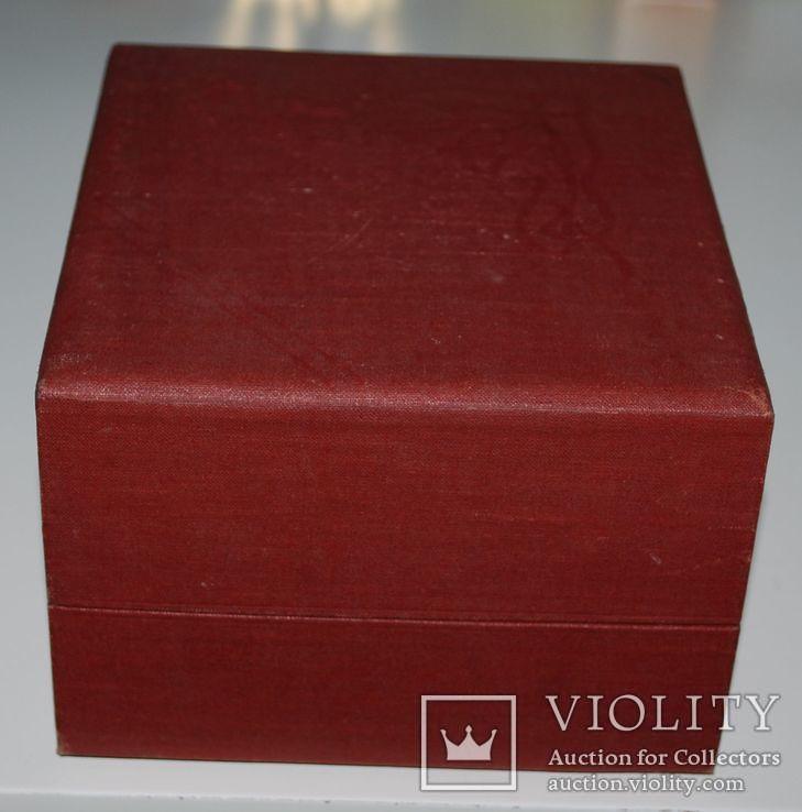 Подарочная коробка для подстаканника из серебра, ГлавЮвелирТорг СССР., фото №9