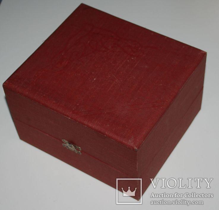 Подарочная коробка для подстаканника из серебра, ГлавЮвелирТорг СССР., фото №11