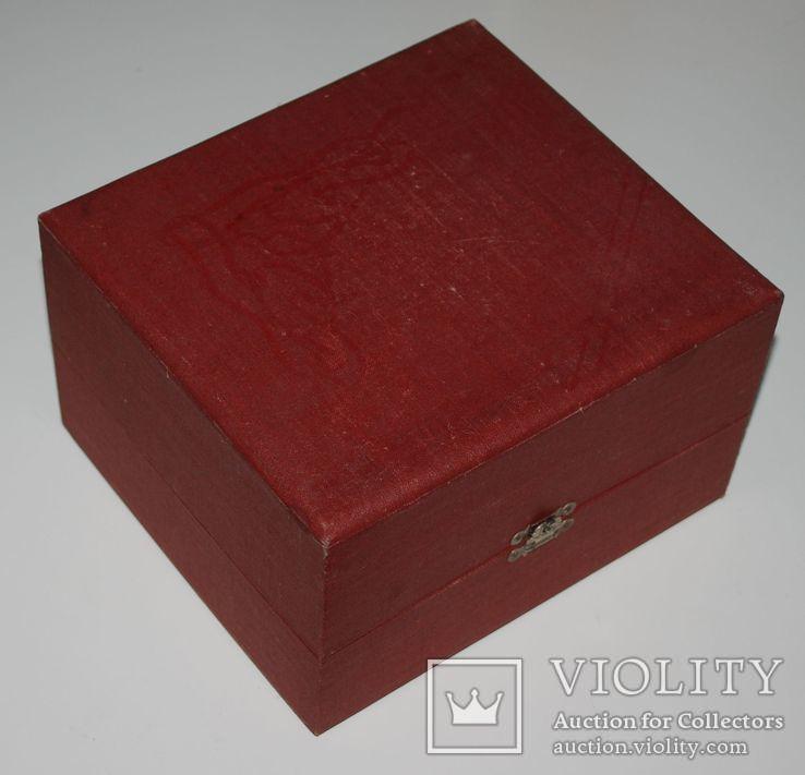 Подарочная коробка для подстаканника из серебра, ГлавЮвелирТорг СССР., фото №12