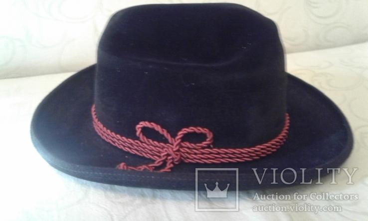Шляпа мужская натур. велюр , клейма Мюнхен разм. 57, фото №2