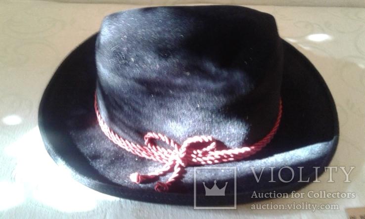 Шляпа мужская натур. велюр , клейма Мюнхен разм. 57, фото №3