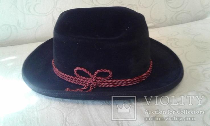 Шляпа мужская натур. велюр , клейма Мюнхен разм. 57, фото №4