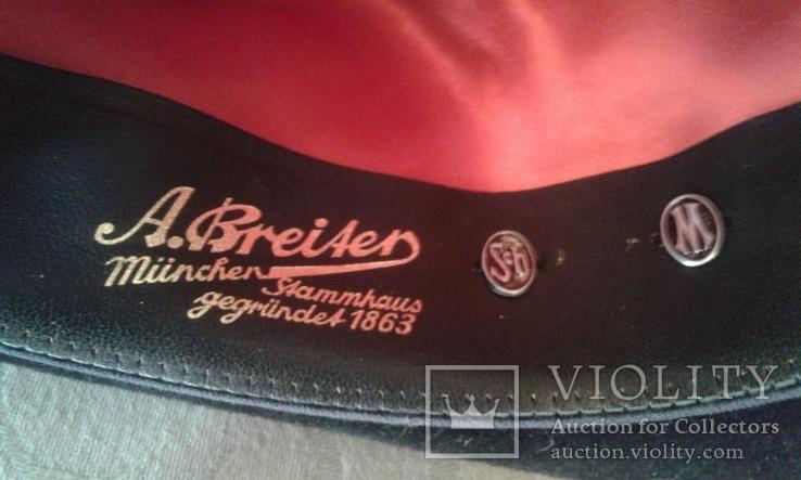 Шляпа мужская натур. велюр , клейма Мюнхен разм. 57, фото №8
