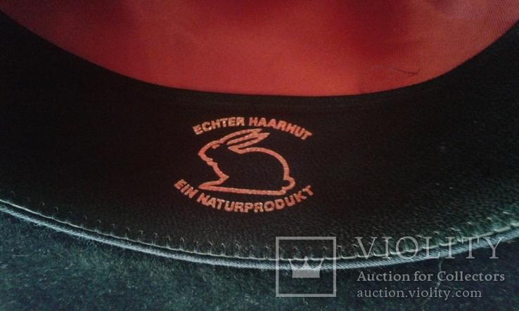 Шляпа мужская натур. велюр , клейма Мюнхен разм. 57, фото №10