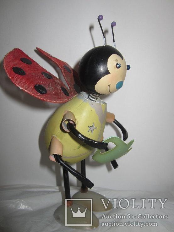 Божья коровка с лейкой металл игрушка Германия, фото №3