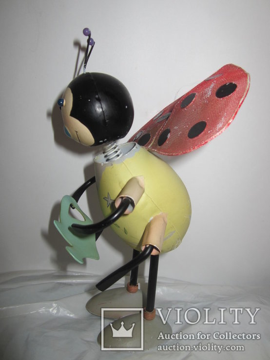 Божья коровка с лейкой металл игрушка Германия, фото №4