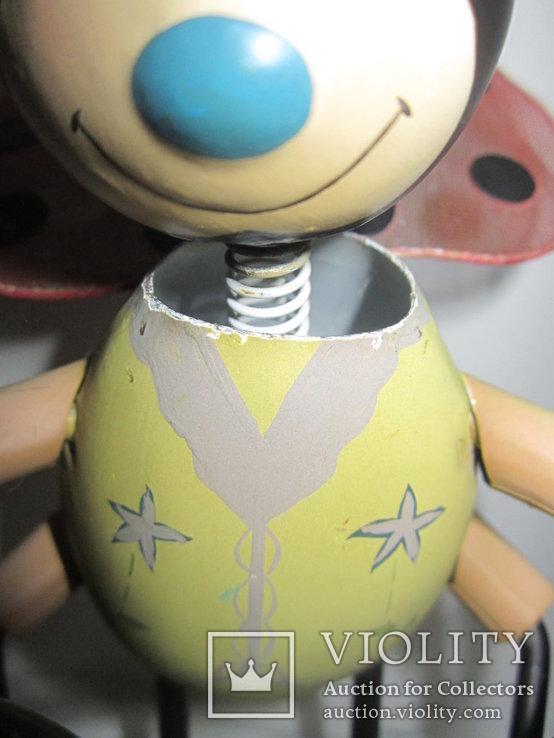 Божья коровка с лейкой металл игрушка Германия, фото №5