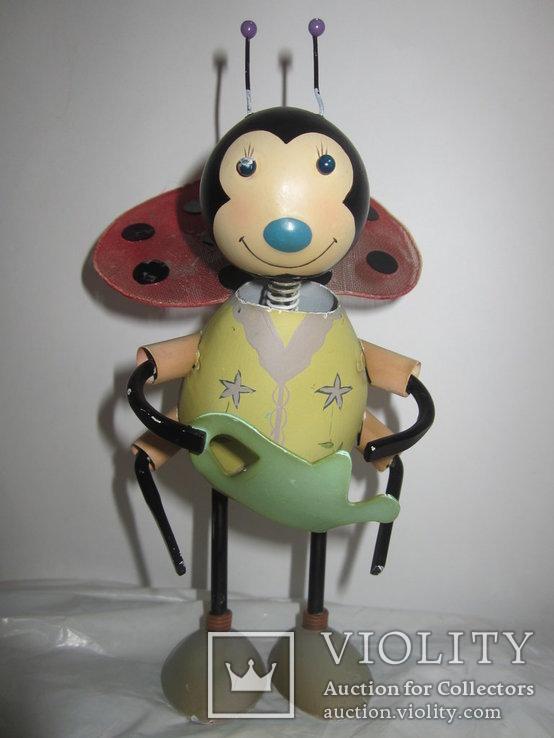 Божья коровка с лейкой металл игрушка Германия, фото №9