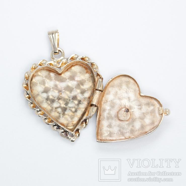 Золотой кулон-локет с бриллиантом, фото №4