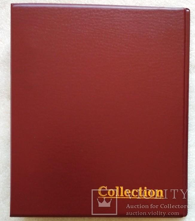 Папка для монет бон под листы формата Optima цвет красный