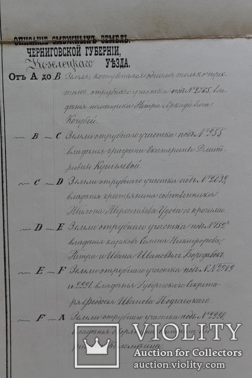 Геометрический специальный план Черниговской губернии, Козелецкого уезда, фото №7