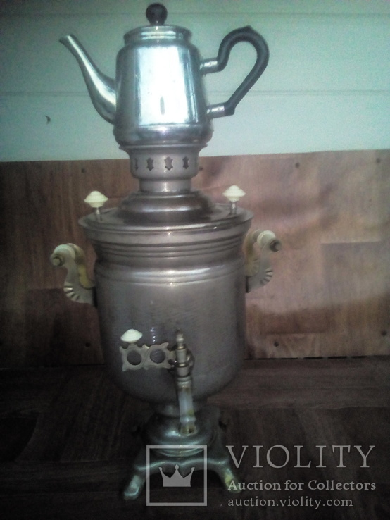 Самовар чайник мельхиоровый., фото №2