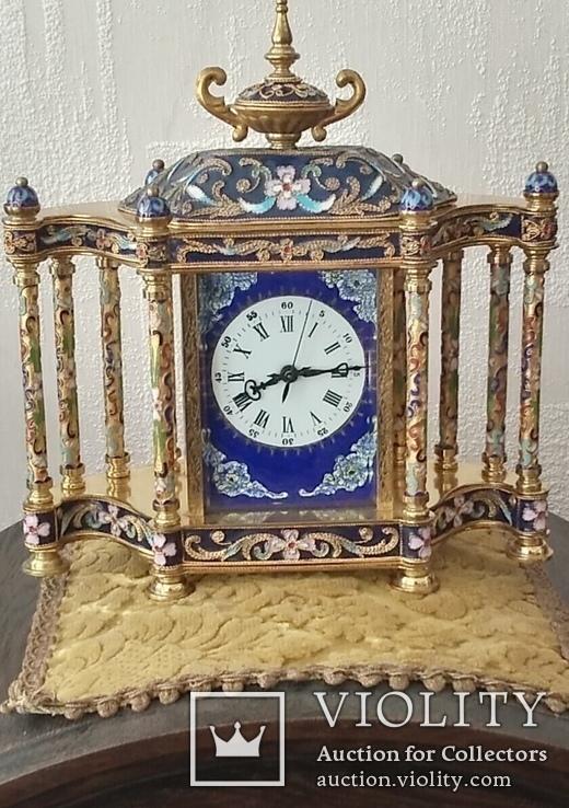 Годинник на камін в стилі КЛУАЗОНЕ., фото №3
