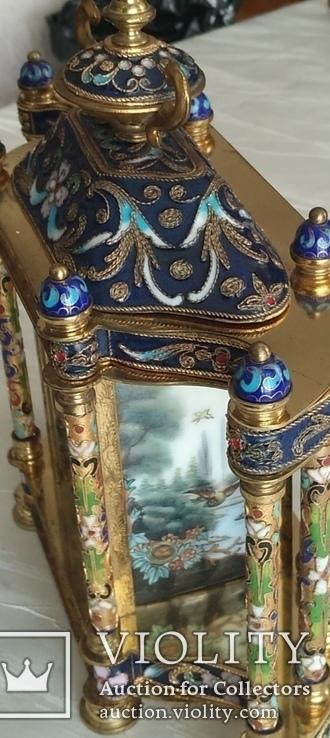 Годинник на камін в стилі КЛУАЗОНЕ., фото №5
