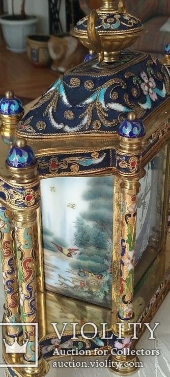Годинник на камін в стилі КЛУАЗОНЕ., фото №6