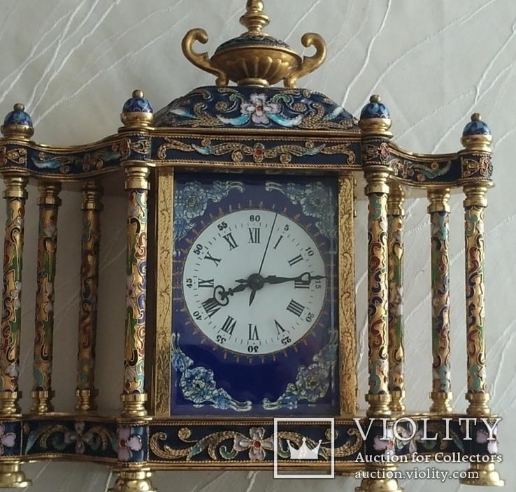 Годинник на камін в стилі КЛУАЗОНЕ., фото №8