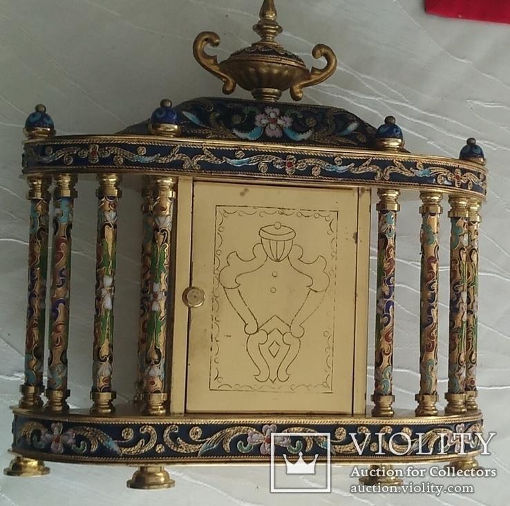 Годинник на камін в стилі КЛУАЗОНЕ., фото №10