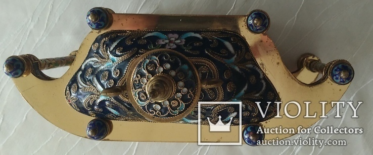 Годинник на камін в стилі КЛУАЗОНЕ., фото №11