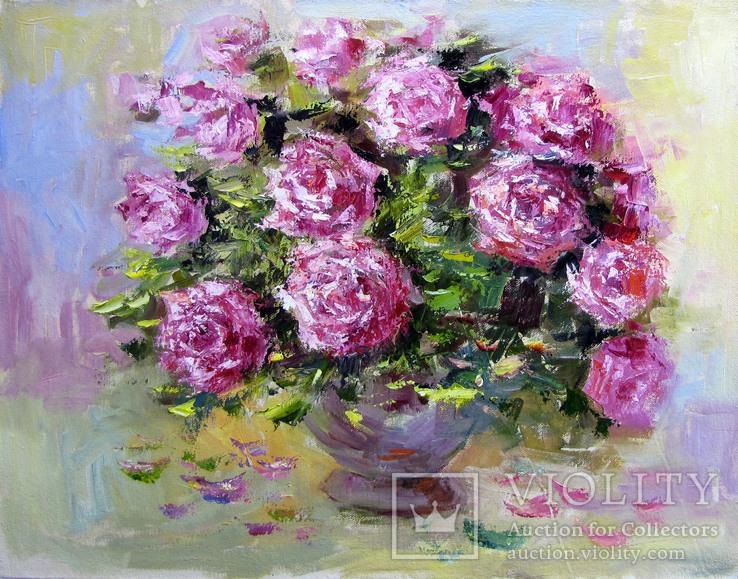 ,,Розы,, 47- 60 см.холст.масло.А.Горб