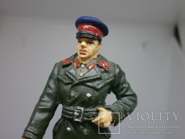 Офицер НКВД в повседневной форме 1941-1943. Олово, раскрас, фото №3