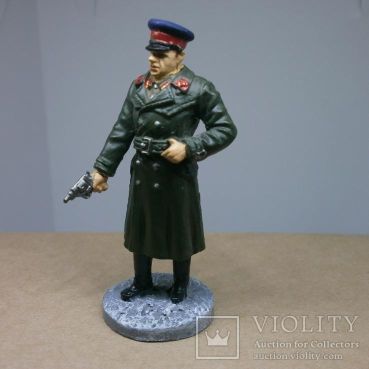 Офицер НКВД в повседневной форме 1941-1943. Олово, раскрас, фото №8