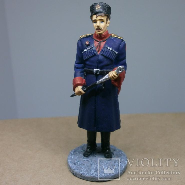 Офицер кубанских казачьих частей в парадной форме 1943-1945. Олово, раскрас, фото №2