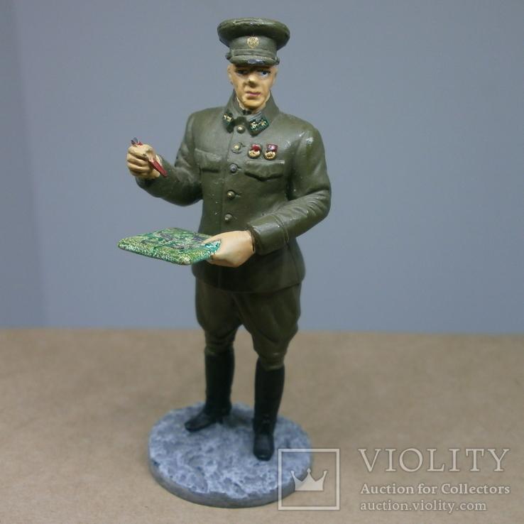 Генерал-лейтенант в походной форме 1941-1943. Олово, раскрас