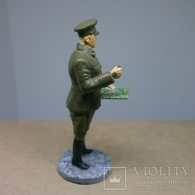 Генерал-лейтенант в походной форме 1941-1943. Олово, раскрас, фото №4