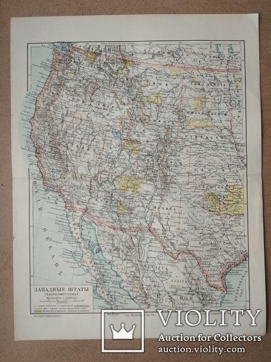 Карта западные штаты северо - Американского союза, фото №3