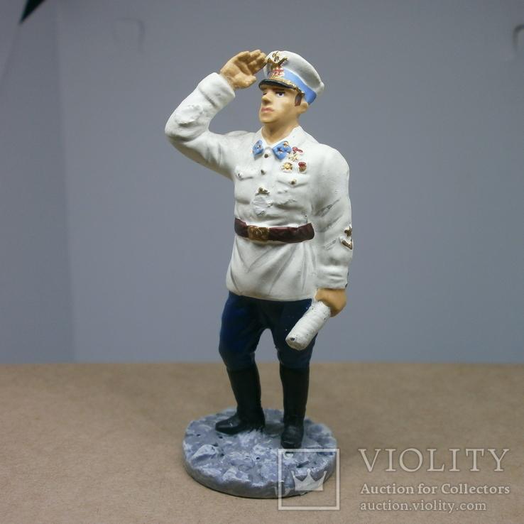 Генерал-майор авиации в летнем обмундировании 1941. Олово, раскрас, фото №2