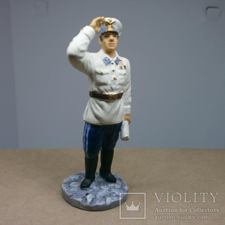 Генерал-майор авиации в летнем обмундировании 1941. Олово, раскрас, фото №3