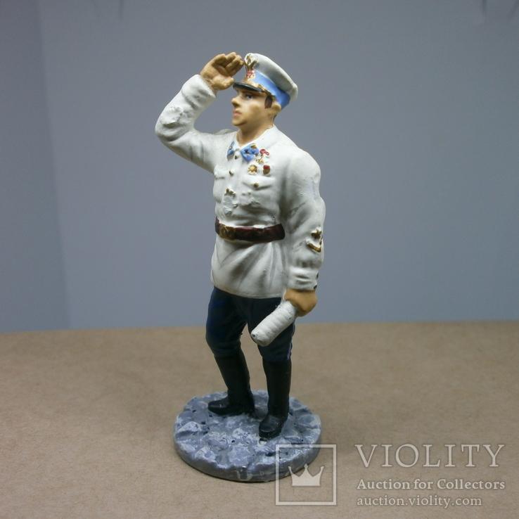 Генерал-майор авиации в летнем обмундировании 1941. Олово, раскрас, фото №8