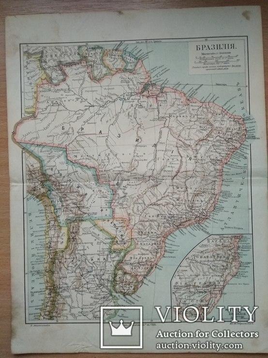 Карта Бразилия до 1917 года, фото №3