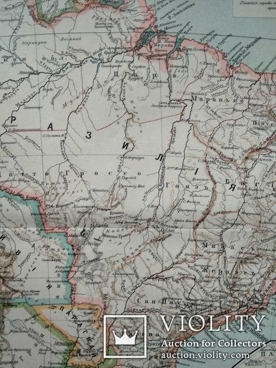 Карта Бразилия до 1917 года, фото №5
