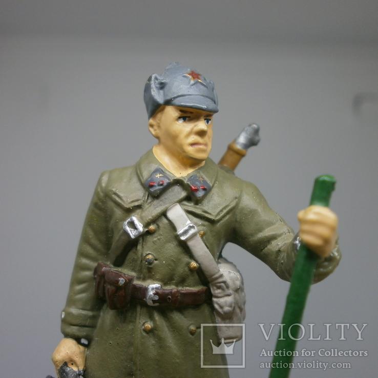Сержант инженерных частей РККА в полевой форме 1941-1943. Олово, раскрас, фото №3
