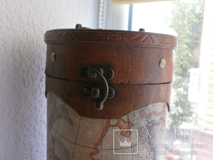 Тубус для бутылки или просто шкатулка. карта. 30см, фото №3